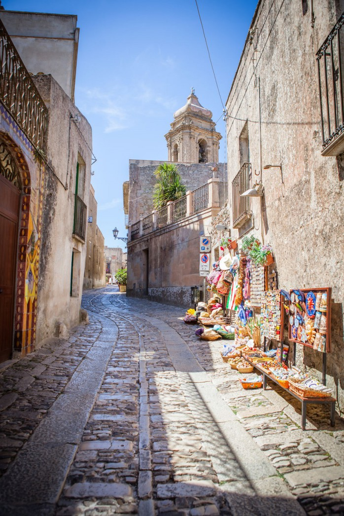 how to get to erice from trapani